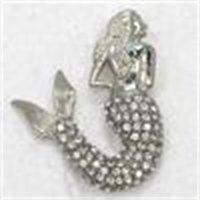 럭셔리 브랜드 브로치 12pcs / lot 도매 크리스탈 라인 석 인어 바다 하녀 ES 핀 패션 의상 펜던트 쥬얼리 선물