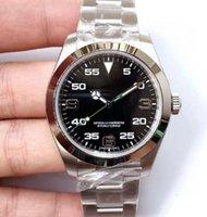 Top Luxury Menes Watch Exp Air King Serie 116900 und 216570 schwarz 40mm Zifferblatt Automatische mechanische Bewegung 316 Stahl Marke Designer Uhren