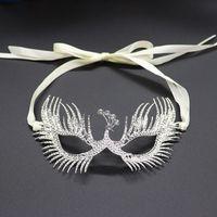 2021 Masque d'Halloween Mascarade Phoenix Alliage Strass Masques Eye Banquet Sparkling Femme Sexy Face Bijoux Accessoires