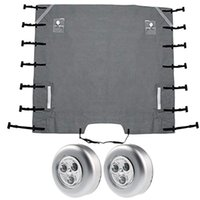 Parts Caravan Front Towing Cover,Universal Protector Covers Accessories With 2 LED Lights For RV Motorhome