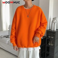 Повседневная толстовка мужская толстовка мода пуловер классический базовый простой стиль весна дна рубашка дома свободно твердый moowuc