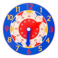 Детские игрушки, преподавательское пособие в раннем образовании, Montessori деревянные часы, игрушки, часы, минуты, секунды, когнитивные красочные часы CCF5628