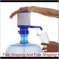 Plastic Easy Manual Hand Press 5 Gallon Drinking Water Bottle Bottled Dispenser Pump Home Office School Travel N71Ug 4Rsg7