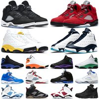 air jordan 5 6 retro 5 Laney 5 s Erkekler Basketbol Ayakkabıları 5 Bred Uluslararası Uçuş Mavi Kırmızı Süet Beyaz Çimento OG Metalik Siyah Tasarımcı Spor Sneaker Boyutu
