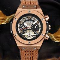 Kimsdun Reloj Automatico De Hombre Mekanik Erkekler Moda Tourbillon Watch Business Cadeau Homme Calendario Su Geçirmez Orologio