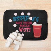Bath Mats Beer Pong Get Your Balls Wet T-Shirt Mat Rug Doormat Floor Carpet Home El Living Room Anti Slip