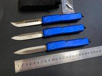 Высокое качество микро- Tech UT85 UT88 Автоматический нож складной Elmax (атласный) Blade Blue Aluminium Handletactical Gear Exwion Открытый карман