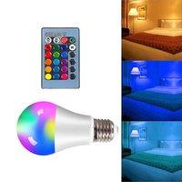 Żarówki 4W 10W 15W Lampa LED żarówka RGB E27 RGBW Przyciemniane inteligentne światła do domowej dekoracji wakacyjnej z pilotem