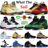 جديد 5 5S أبيض x الشراع ما أحذية كرة السلة أوريغون البديل bel العنب الأسود musllin أعلى 3 الرياضة تشغيل أحذية رياضية