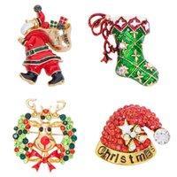 핀, 브로치 Easya 메리 크리스마스 눈송이 나무 엘크 양말 에나멜 배지 작은 브로치 여성 패션 파티 쥬얼리 선물