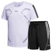 Artı Boyutu 8XL 9XL Yaz T Gömlek ve Şort İki Parçalı Set Erkekler Casual Jogger Bisiklet Spor Çalışmak Çalışan Tişörtleri Tişörtü