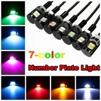 12V 2-LED SMD دراجة نارية رقم سيارة لوحة ترخيص لوحة اللولب الترباس ضوء مصباح المصباح