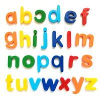 Contando Tempo 26pcs Magnetic Aprendizagem Alfabeto Letras De Plástico Adesivos Adesivos Crianças Crianças Ortografia Educação Brinquedos Educativos