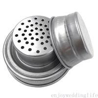 Mason Jar Shaker-Deckel Edelstahl-Abdeckung für normalen Mund-Mason-Masur-Canning-Gläser Rust-Proof-Cocktail-Shaker trockene RUB-Cocktail 70mm