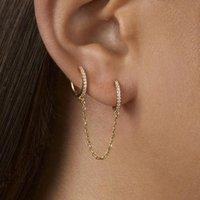 HOOP Huggie 1pc Fashion CZ cerchio orecchio bracciale orecchini retrattili per le donne uomini unisex doppio piercing gioielli gioielli regalo