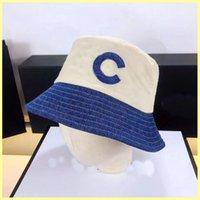 Women Spliced Bucket Hats Designer Caps Hats Mens Casquette Letter C Bonnet Beanies Luxurys Fitted Hat Baseball Cap Wholesale 21072904R