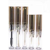 4ML 2.5ML Lipgloss Plastic Bottle Containers Empty Gold Tube Eyeliner Eyelash Container Mini Lip Gloss Split Packing Bottles
