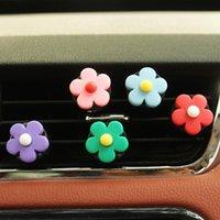 Interior Decorations 1Pcs Automobile Air Conditioner Freshener Vent Solid Car Perfume Clip Flower Decor Fragrance Smell Diffuser Accessories
