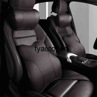 PU Leather Car Headrest Pillow Auto Head Restraint Memory Foam Car Neck Pillow Relieve Lumbar Pain For Driving and Working