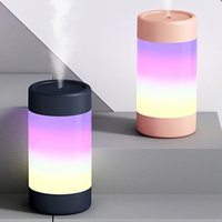 300ML Portable Mini Humidifier Ultrasonic Dazzle Cup USB Air Humidifiers With Soft Colorful Lights For Home Office Car Air Aroma Diffuser Cool Mist Maker