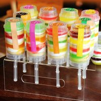 Neue Lebensmittelqualität Kunststoff Push-Up Pop-Container Push-Kuchen-Pop-Kuchen-Container für Party-Dekorationen Runde Formwerkzeug Großhandel Retail 405 v2