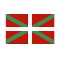 Bask Natinal Bayrak Perakende Doğrudan Fabrika 3x5fts 90x150 cm Polyester Afiş Kapalı Açık Kullanım Tuval Kafa ile Metal Grommet NHB9349
