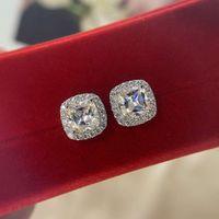 Gioielli di moda HBP Nuovo S925 Pure Tremella Nail Women's Coreano Lusso Surround Diamond Orecchini geometrici
