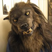 Party Masks Werewolf Cosplay Headwear Costume Mask Simulation Wolf For Adults/children Halloween Cosply Full Face Cover