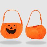 Halloween Abóbora Candy Bucket Titular Portátil Bat Gift Bag Truque Adereços Decoração do Partido de Halloween 10 pcs