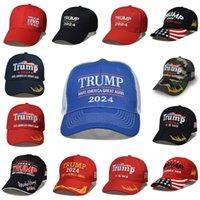 Boné de beisebol da eleição dos EUA presidenciais Make Make America novamente Headgear Trump 2024 Chapéu de Camuflagem 14 5SXA 1587 T2