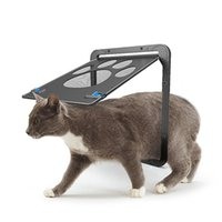 Haustierbedarf Pfotenform Drucken Anti-Bite Kleine Hunde-Hunde Katzentür für Fenster-Bildschirm Katzenmöbel Scrrat Jllbqw Soif