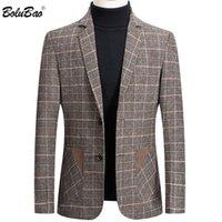 Men's Suits & Blazers BOLUBAO Brand Men Blazer Personality Wild Suit Jacket High Quality Fashion Plaid Print Slim Fit Warm Coat Male