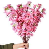 Dekorative Blumen Kränze 65cm 5 stücke Seidenblume Künstliche Kirsche Feder Pflaume Pfirsich Blossom Zweig Home Hochzeit Kunststoff Blumenstrauß