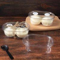 Gift Wrap 50pcs High Quality Thick PET Plastic Transparent Packaging Tiramisu Cake Box 500ml Ice Cream Pudding Yogurt Dessert Cup With Lid
