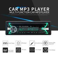 12V 자동차 라디오 블루투스 MP3 플레이어 LCD 화면 스테레오 자동차 오디오 플레이어 FM USB / TF / AUX-IN 전화 1din