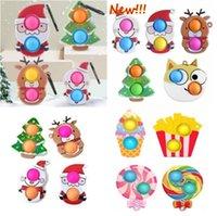 50% de rabais sur Noël Fidget Toys Push Antistress Dessin animé Toy Party Gifts Simple Dimples Soft Soft Sensorable Squeeze