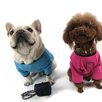 Simple Style Pet Clothes Fashion Cotton Dog Apparel Summer Outdoor Breathable Puppy Clothing Letter Printed Sweatshirt for Teddy Schnauzer