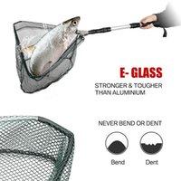 Hot Folding Aluminium-Griff Angeln Landing Net 3-Sektion, der das Pole Fishing Tool do2 erstreckt