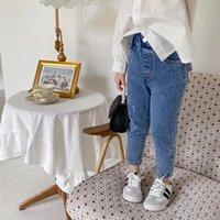 Ambb Coreano Primavera Verano Niños Niñas Jeans Denim Pantalones Calidad Diseños con estilo Chicos Cintura Elástica Autumn Niños Unisex Pantalones
