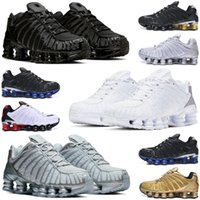 shox TL r4 men women shoes triple white Silver Red Platinum Chrome Gold mens womens trainers sports sneakers runners