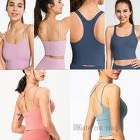 yogaworld-lu womens outfit lu tanks lulu yoga bra gym align training top tops beauty plastic sports underwear women gather running fitness for woman 0102 b4IA#