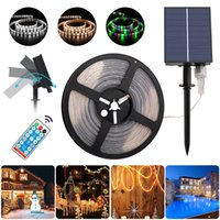 5M 280LEDs Solar Light Strings IP65 Waterproof LED Fairy Lights 8 Modes Remote Control Outdoor Garden Lamps Halloween Home Decor Christmas Courtyard BackLight Lamp