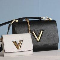 Designer Totes Taschen Handtaschen Luxus Schulter Crossbody Bag Echtes Leder Hochwertige Handtasche Goldkette Verschiedene Stile Größe 23 * 10 * 17cm mit Originalkasten