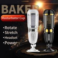 Vibraciones Masturbación automática Copa Pistón Rotating Sucking Mastro Masturbador Taza Vagina artificial Vagina Real Pussy Sex Toys Para Hombres C0224