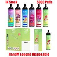 Original Randm Legend 일회용 장치 Kit Kit RM 전자 담배 5000 퍼프 950mAh 배터리 12ml Prefilled 카트리지 포드 vape 스틱 펜 대 공기 막대 최대 럭스 100 % 정통