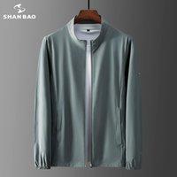 Vestes pour hommes Shan Bao 2021 Été légère légère ultra-mince respirant de grande taille Veste solaire de la peau de la jeunesse mince