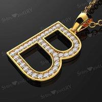 HBP fashion luxury new Korean version simple creative English B letter necklace series fashionable and versatile Pendant
