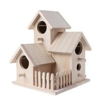 خشبي بيت الطيور تربية قفص سياج مربع عش حديقة الفناء الخلفي الديكور المنزل