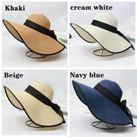 NUEVA dama plegable playa sombreros de paja sombrero sol sombrero ancho sombrero de paja al aire libre playa plegable panama sombreros iglesia sombrero ewa3775