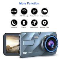2.5D 1080P DUAL LENS CAR DVR grabadora de video Dash Cam CAM SMART G-SENSOR Cámara trasera 170 Grados de gran angular Ultra HD Resolución